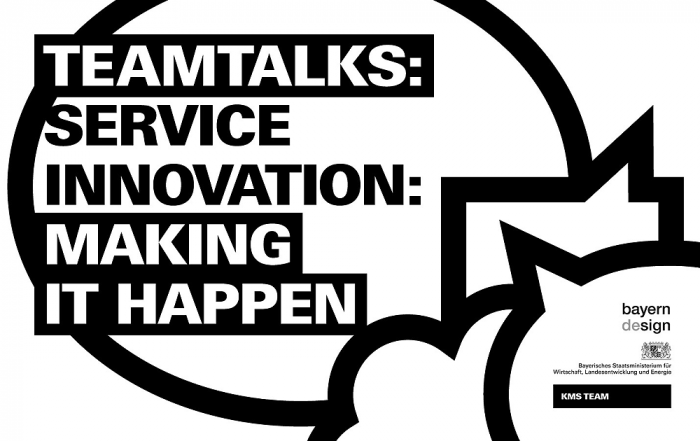 Teamtalks: Service Innovation: making it happen
