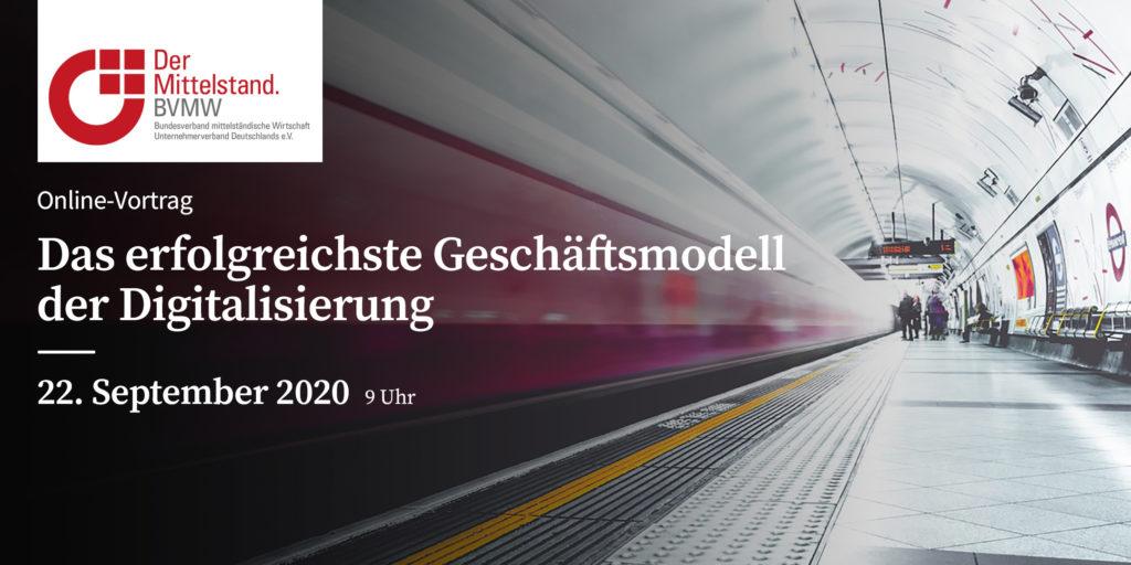 Geschäftsmodelle online Vortrag + BVMW